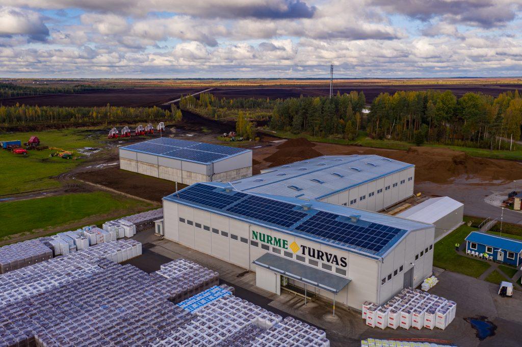 Nurme Turvas tööstushoonete päikeseelektrijaamad