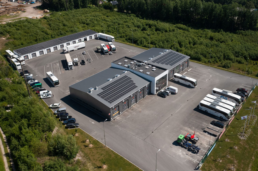 Tööstus- ja laohoonete päikesejaamad Pärnus